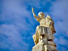 La diosa de la Justicia en el Tribunal Supremo del Reino de España. Cberbell/Wikimedia Commons.