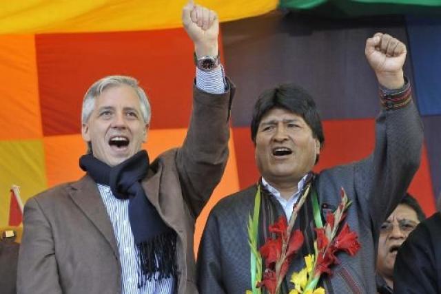 Resultado de imagen para Fotos de Morales y García Linera